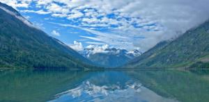 Вид на горы с Мультинского озера