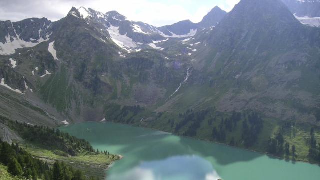 Вид сверху на Мультинское озеро