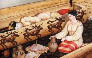 Реконструкция погребения Алтайской принцессы